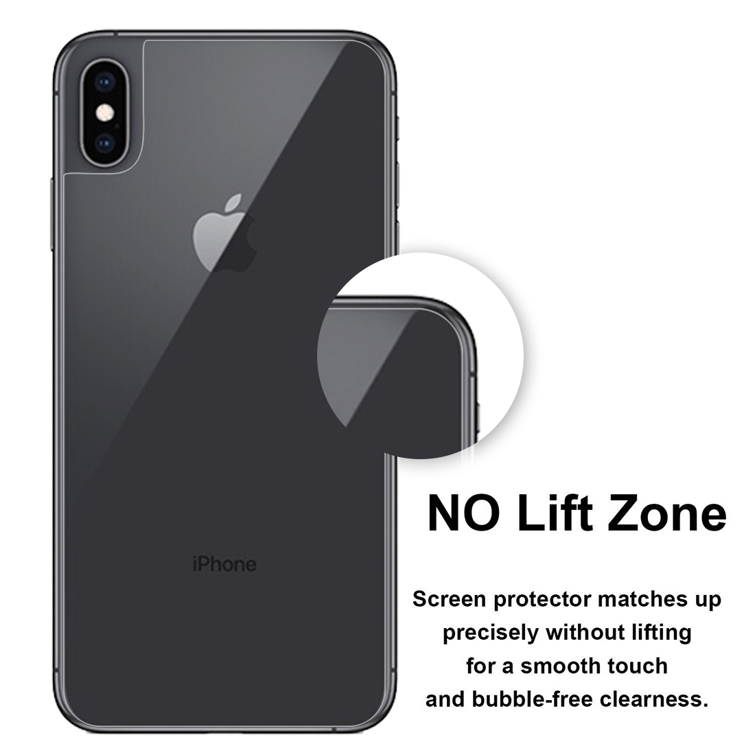 0.1mm HD Straight Edge PET Back Protector for iPhone XS Max