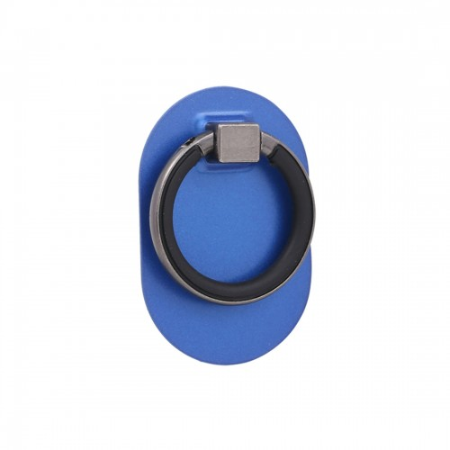 Universal Phone Adhesive Metal Plate 360 Degree Rotation Stand Finger Grip Ring Holder, For iPhone, iPad, Samsung, other Smartphones and Tablets (Blue)