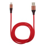 1m Cloth Braided Cord USB A to 8 Pin Data Sync Charge Cable For iPhone XR / iPhone XS MAX / iPhone X & XS / iPhone 8 & 8 Plus / iPhone 7 & 7 Plus / iPhone 6 & 6s & 6 Plus & 6s Plus / iPad (Red)