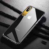 TOTUDESIGN Clear Crystal Series Transparent PC Case for iPhone X / XS (Gold)