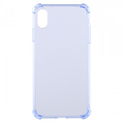 50 PCS 0.75mm Dropproof Transparent TPU Case for iPhone X / XS (Blue)