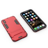 PC + TPU Shockproof Protective Case with Holder For iPhone XS Max (Red)
