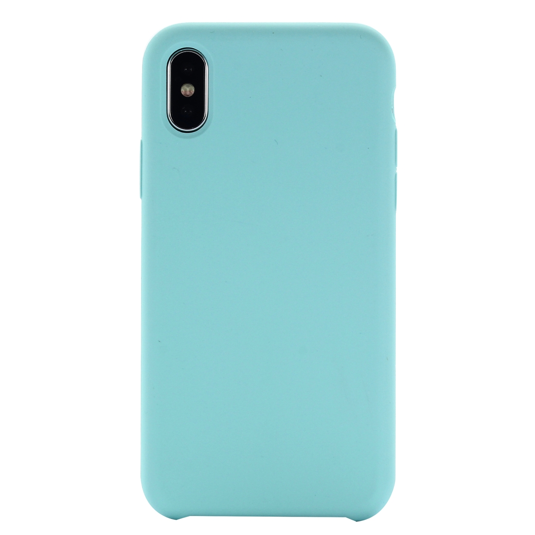 Four Corners Full Coverage Liquid Silicone Protective Case Back Cover for iPhone XS Max 6.5 inch (Green)
