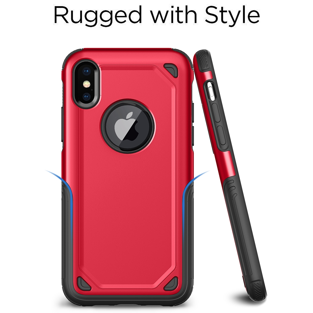 Shockproof Rugged Armor Protective Case for iPhone XS Max (Red)