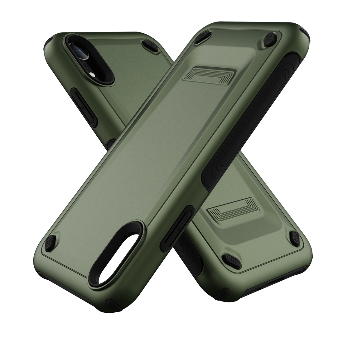 huge discount 0c845 a705b Ultra-thin TPU+PC Mechanic Shockproof Protective Case for iPhone XR (Army  Green)