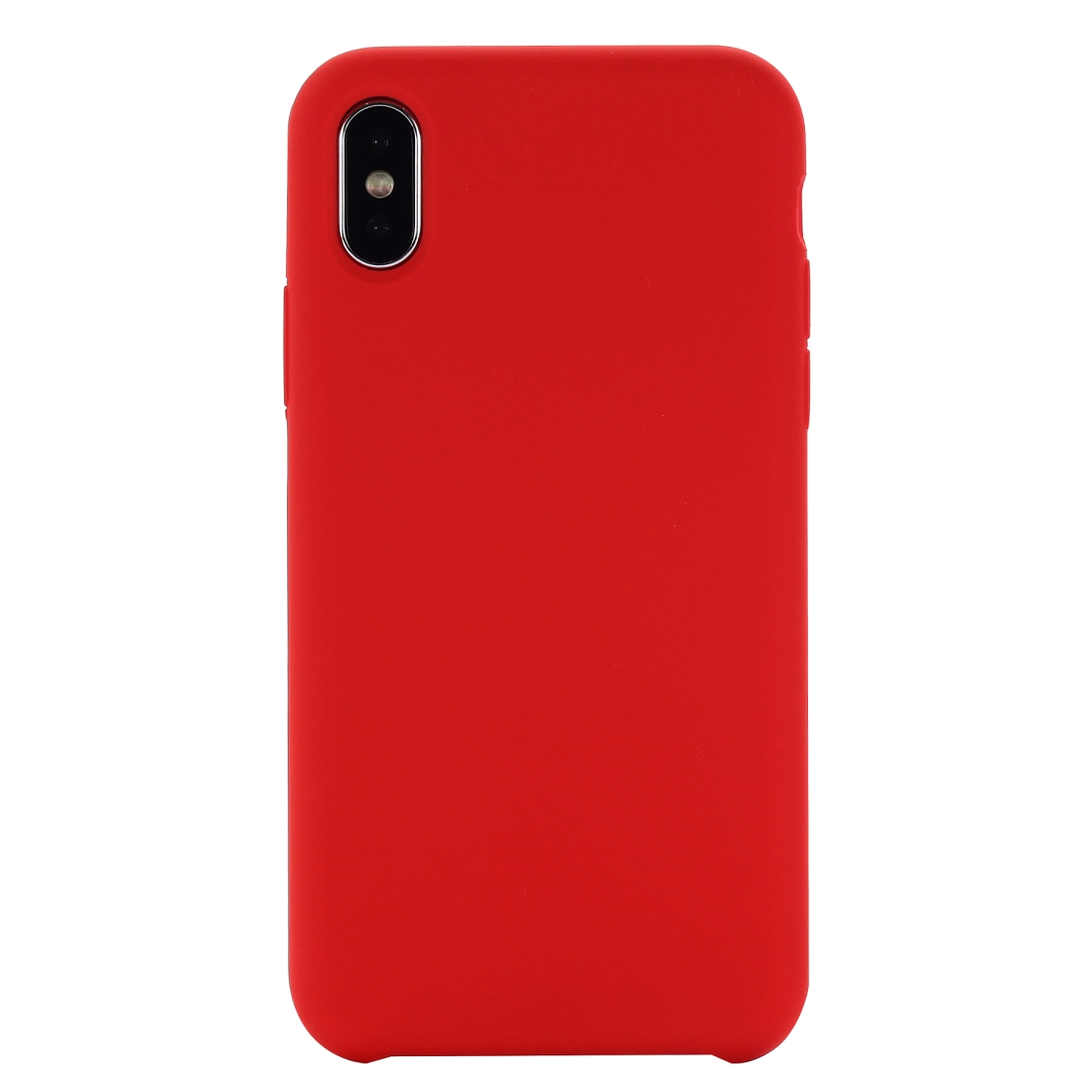 Four Corners Full Coverage Liquid Silicone Protective Case Back Cover for iPhone XR 6.1 inch (Red)