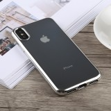 TOTUDESIGN Jane Series Electroplating TPU Case for iPhone X / XS (Silver)