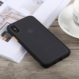 TOTUDESIGN Gingle Series Shockproof TPU+PC Case for iPhone X / XS (Black)