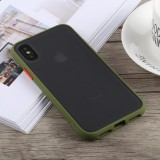 TOTUDESIGN Gingle Series Shockproof TPU+PC Case for iPhone X / XS (Green)