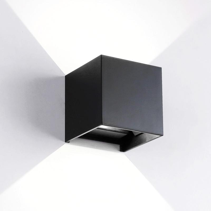 6w White Light Dimmable Black Aluminum Shell Cob Led Wall