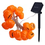 2.5m Pumpkin Design Yellow Light Halloween Series Solar Powered LED String Light, 20 LEDs Party Props Fairy Decoration Night Lamp