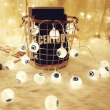 2.5m Ghost Eyes Design White Light Halloween Series Solar Powered LED String Light, 20 LEDs Party Props Fairy Decoration Night Lamp
