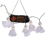 2.5m Ghost Doll Design Colorful Light Halloween Series LED String Light, 20 LEDs 3 x AA Batteries Box Operated Party Props Fairy Decoration Night Lamp