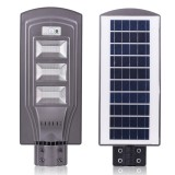 60W IP65 Waterproof Radar Sensor + Light Control Solar Power Street Light, 120 LEDs Energy Saving Outdoor Lamp with 6V / 20W Solar Panel