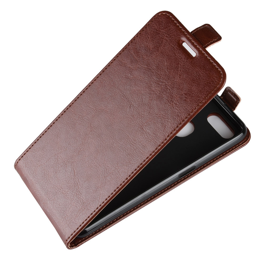 huge discount 5a810 c11c3 Business Style Vertical Flip Leather Protective Back Cover Case for OPPO F9  (F9 Pro), with Card Slot (Brown)