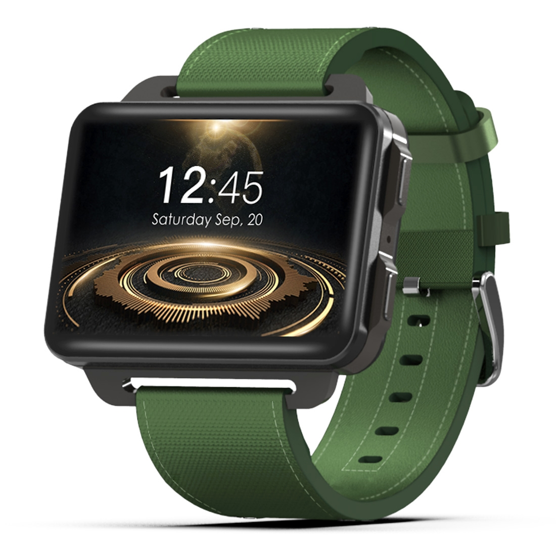 DOMINO DM99 Smart Watch Phone, 1GB+16GB, 2.2 inch Android 5.1, MTK6580 Quad Core 1.3GHz, Network: 3G, 1.3MP Camera / Heart Rate / Pedometer / GPS / WiFi / Bluetooth (Green)