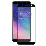 ENKAY Hat-Prince 0.26mm 9H Surface Hardness 3D Curved Full Screen Bent Tempered Glass Color Screen Protector for Galaxy A6+ (2018) (Black)