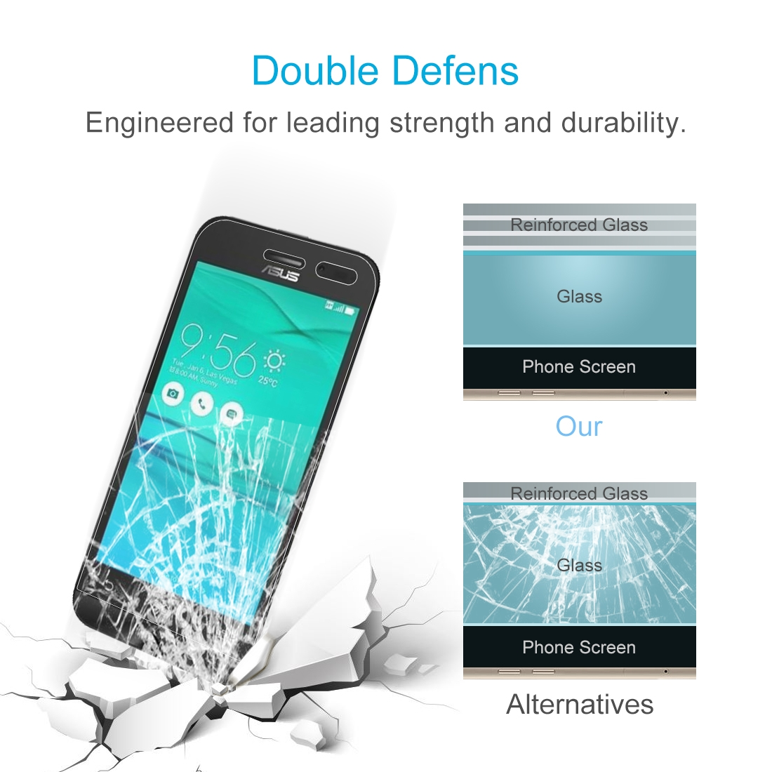 026mm 9h 25d Tempered Glass Film For Asus Zenfone Go Zb452kg Mpsg9738a 5