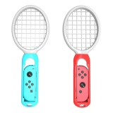 2 PCS Tennis Racket Handle Holder Grip Drumstick with Wrist Strap for Nintendo Switch Joy-con (White)