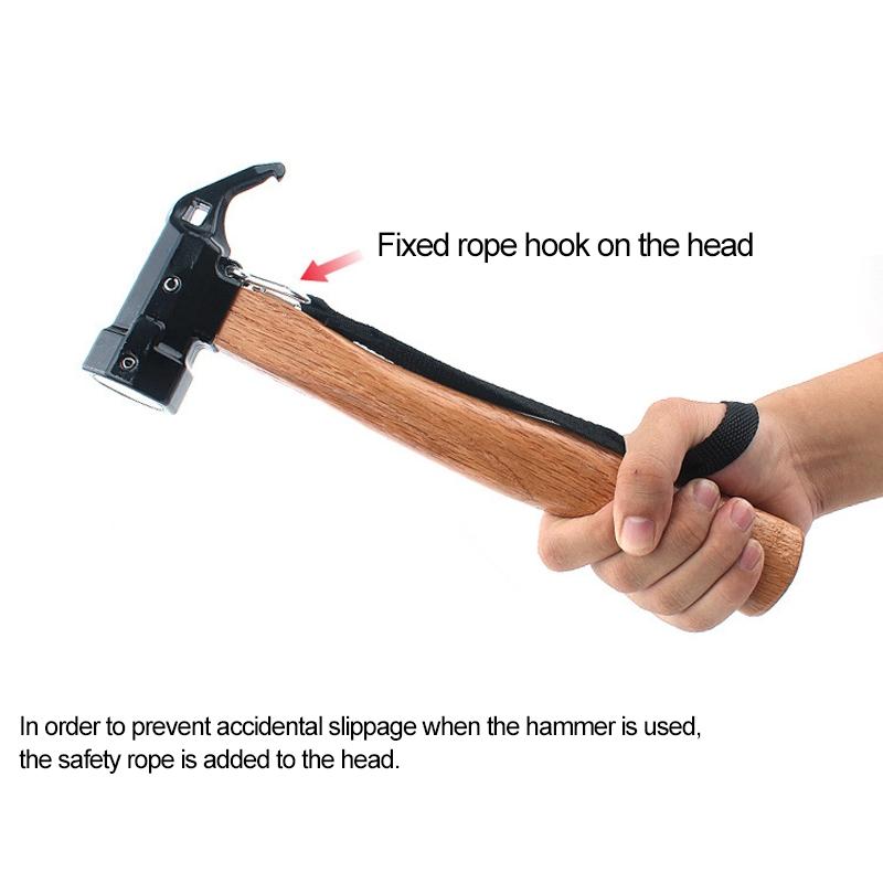 CLS-Outdoor Hexagonal Brass Brass Multi-function Nail Puller Shark Hammer