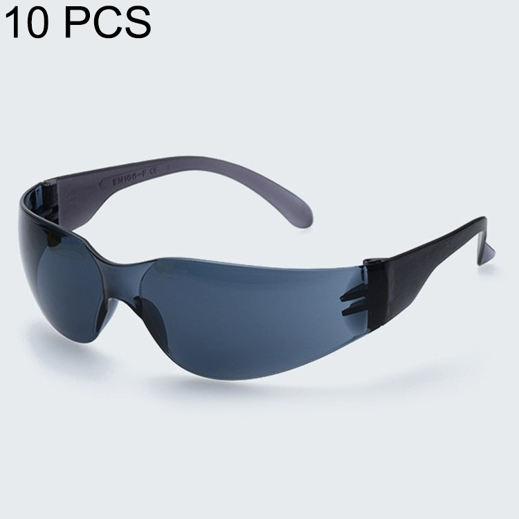 10 PCS Working Protective Glasses Windproof Dustproof Medical Goggles (Black)