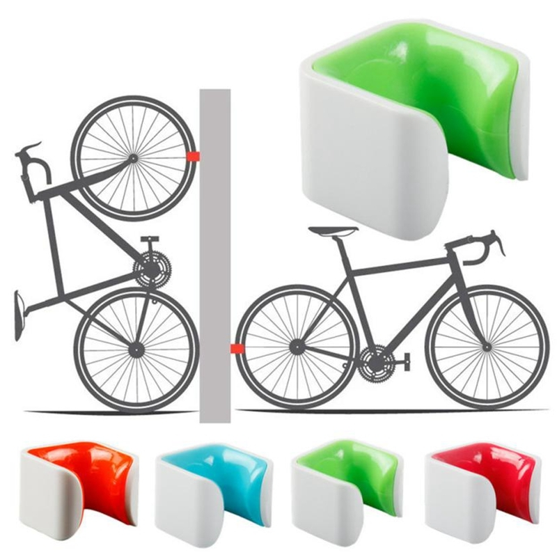 RICHY Bicycle Parking Rack Simple Road Bike Mountain Bike Parking Rack Wall Holder, Color Random Delivery