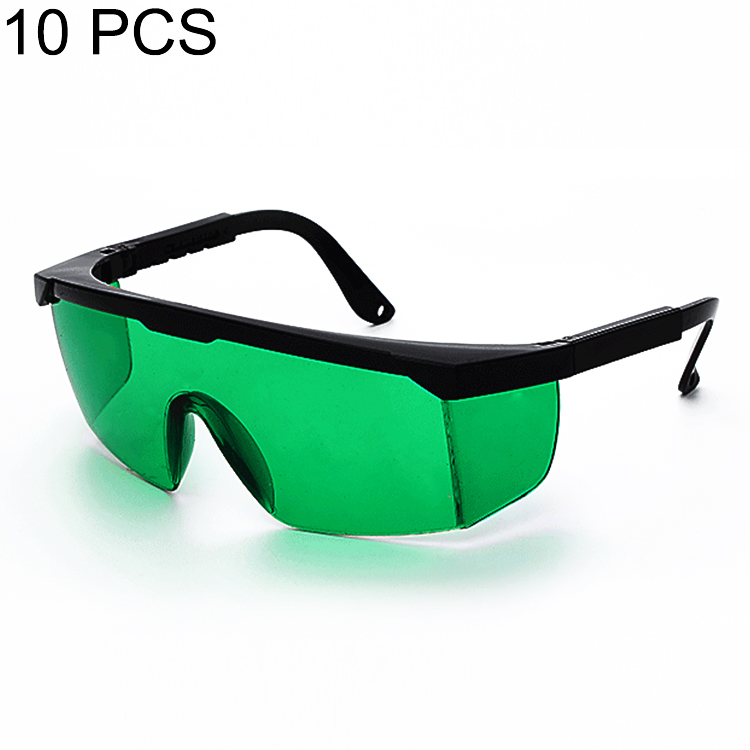 10 PCS Laser Protection Glasses Goggles Working Protective Glasses (Green)