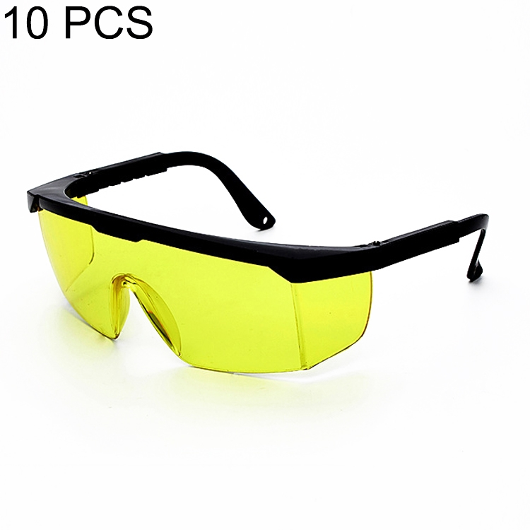 10 PCS Laser Protection Glasses Goggles Working Protective Glasses (Yellow)