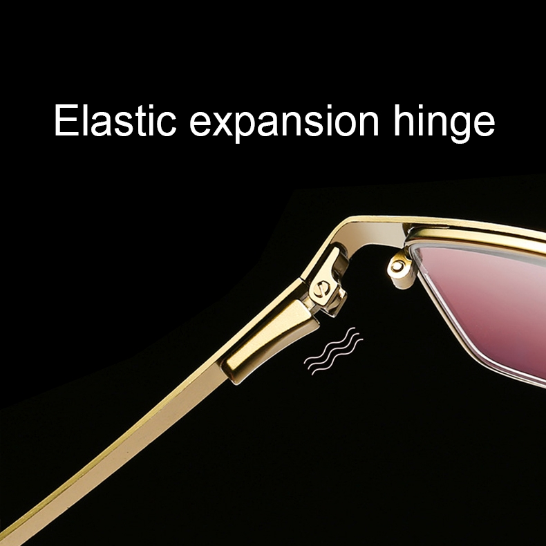 Dual-purpose Photochromic Presbyopic Glasses, +4.00D (Gold)