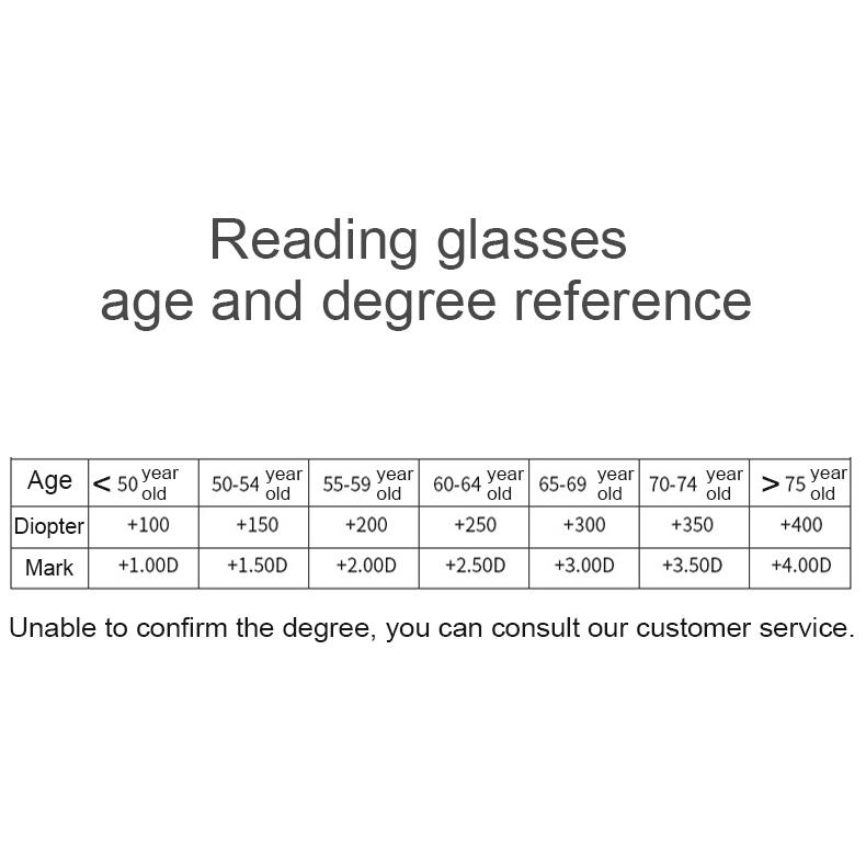 Rimless Anti Blue-ray Blue Film Lenses Presbyopic Glasses, +2.50D (Black)