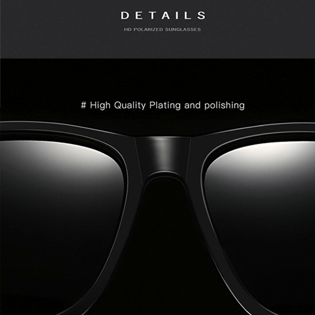 Men Retro Fashion Aluminum Magnesium Frame UV400 Polarized Sunglasses (Black Tarnish+ G15 Green)