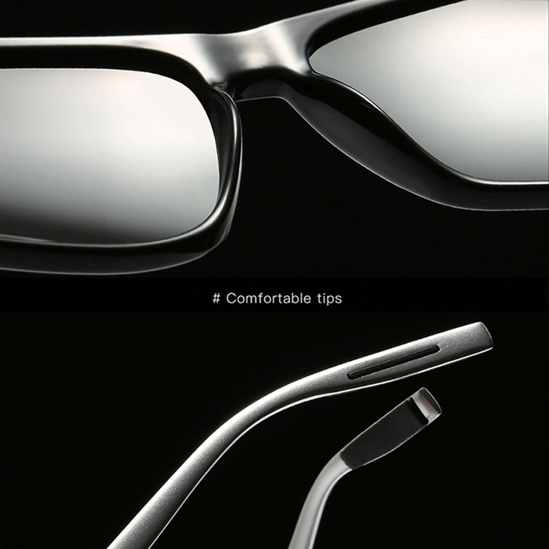 Men Retro Fashion Aluminum Magnesium Frame UV400 Polarized Sunglasses (Black Tarnish+ Blue)