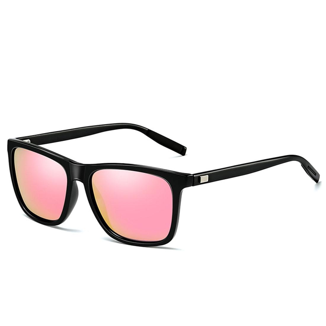 Men Retro Fashion Aluminum Magnesium Frame UV400 Polarized Sunglasses (Black Tarnish+ Grey)