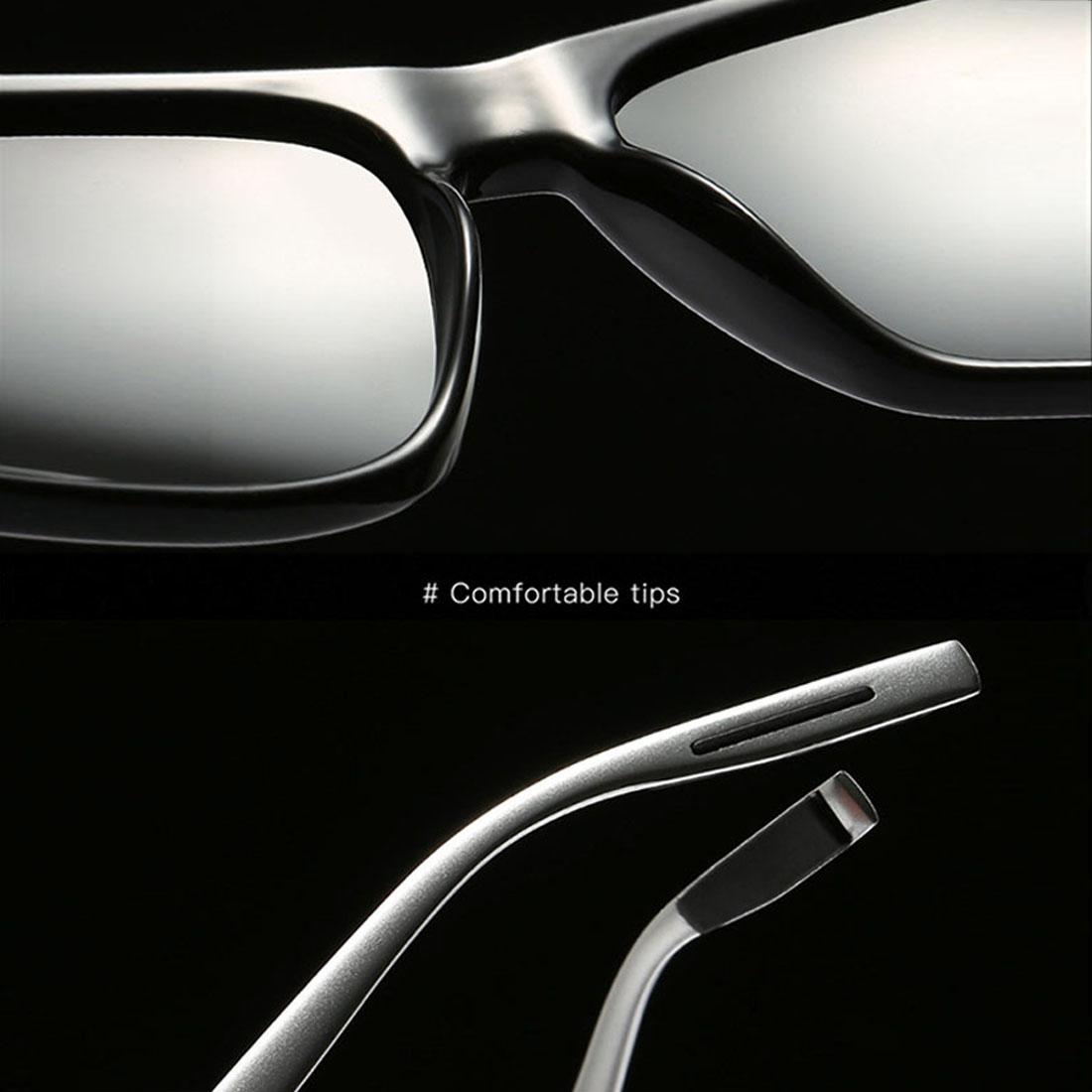 Men Retro Fashion Aluminum Magnesium Frame UV400 Polarized Sunglasses (Grey+ Silver)