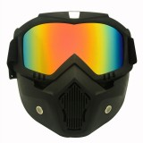 Motorcycle Off-road Helmet Mask Detachable Windproof Goggles Glasses (Red)