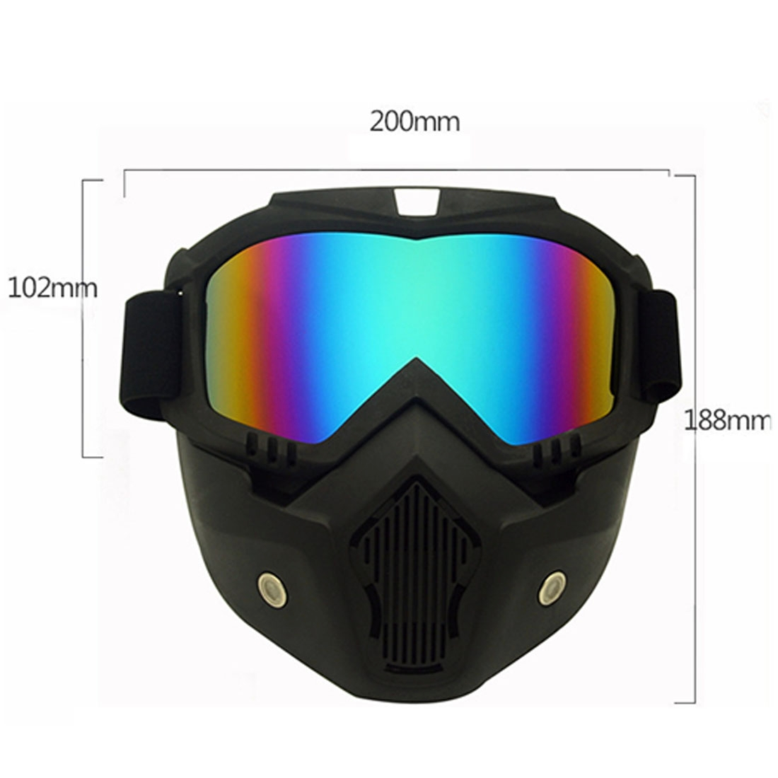 Motorcycle Off-road Helmet Mask Detachable Windproof Goggles Glasses (Silver)