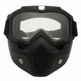 Motorcycle Off-road Helmet Mask Detachable Windproof Goggles Glasses (Transparent)