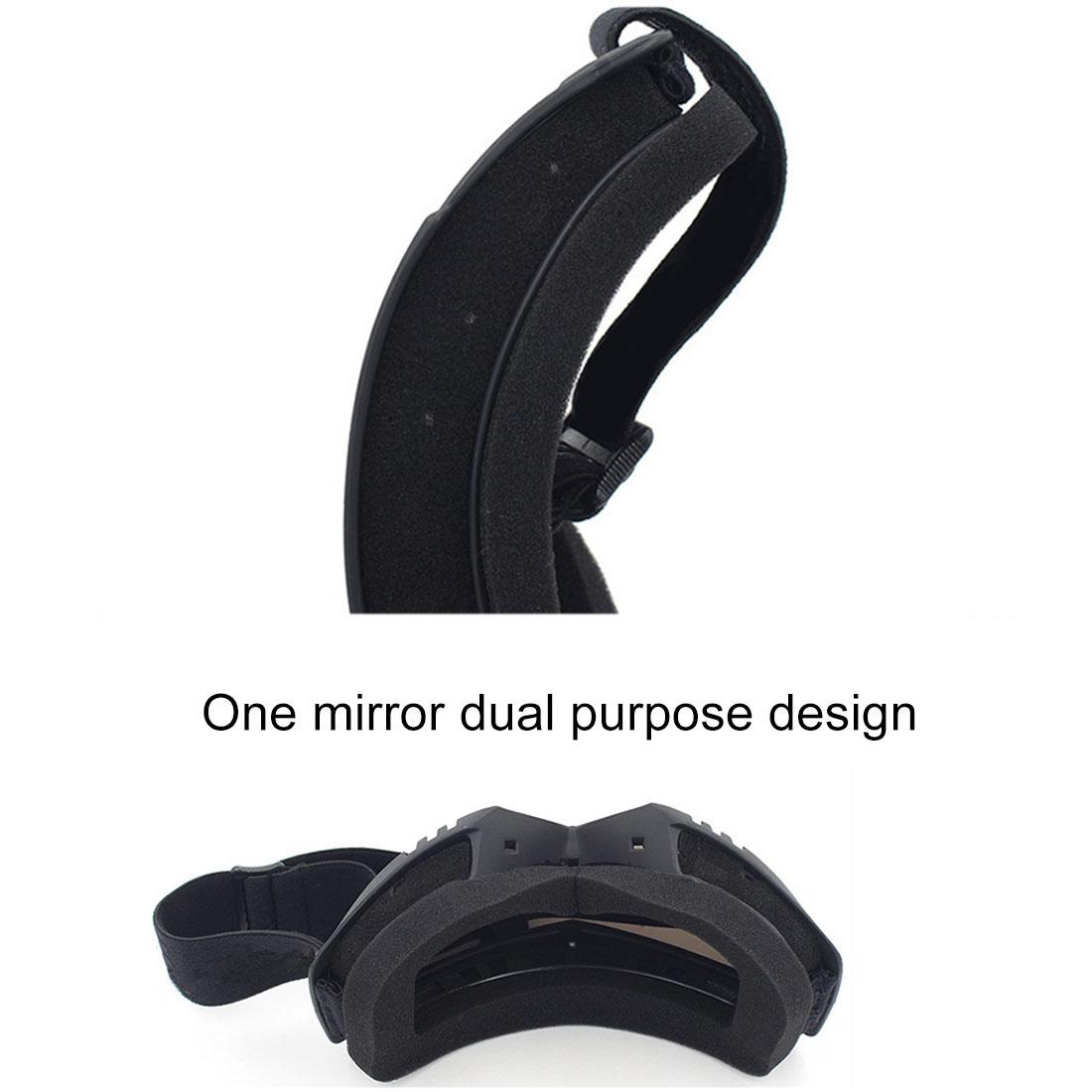 Motorcycle Off-road Helmet Mask Detachable Windproof Goggles Glasses (Transparent)