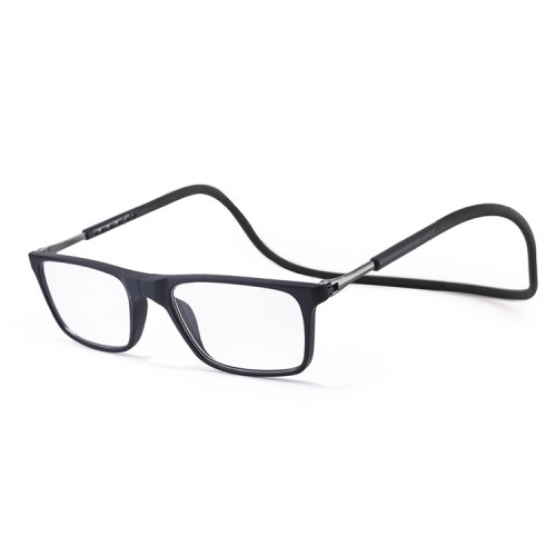 Anti Blue-ray Adjustable Neckband Magnetic Connecting Presbyopic Glasses, +1.50D (Black)