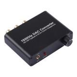 192KHz DAC Converter HD HIFI Optical to RCA+3.5mm Headphone 5.1 Channel Digital Audio Converter with Volume Control