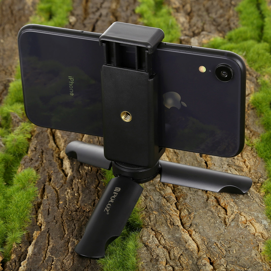 PULUZ Mini Plastic Tripod + Universal Phone Clamp Bracket, For iPhone, Galaxy, Huawei, Xiaomi, Sony, HTC, Google and other Smartphones