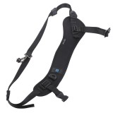PULUZ Quick Release Anti-Slip Soft Pad Nylon Breathable Curved Camera Strap with Metal Hook for SLR / DSLR Cameras