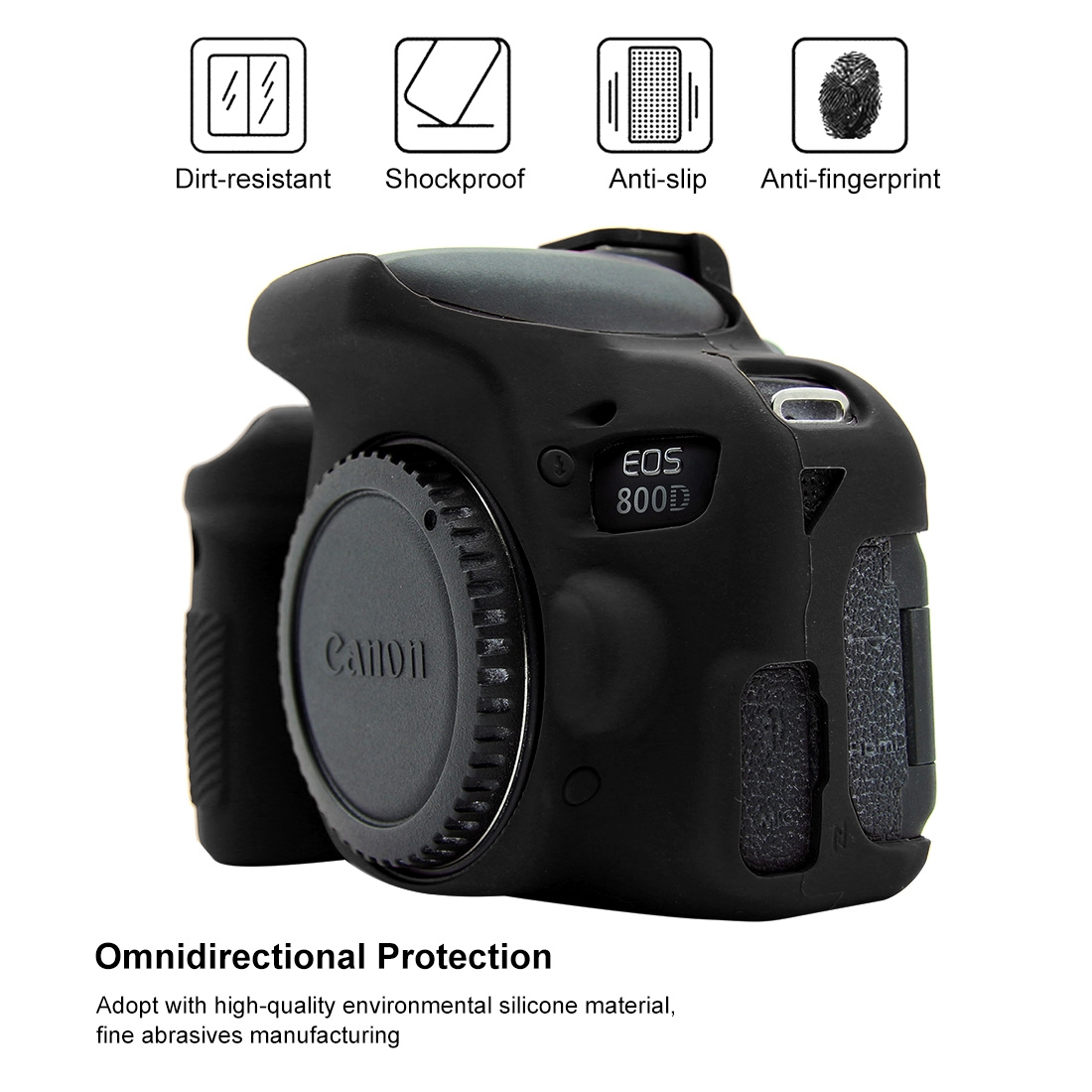 Yhuisen Soft Silicone Protective Case Compatible with Canon EOS 800D Size : Pu7109a