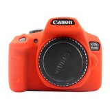 PULUZ Soft Silicone Protective Case for Canon EOS 1300D / 1500D (Red)