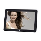 12.0 Inch LED Display Multi-media Digital Photo Frame with Holder / Music & Movie Player / Remote Control Function, Support USB / SD, Built in Stereo Speaker (Black)
