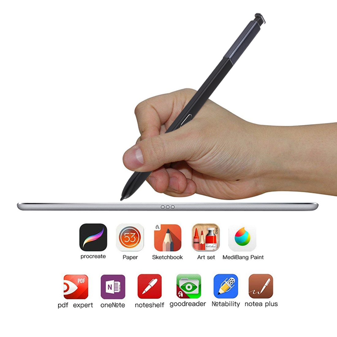 Portable High-Sensitive Stylus Pen without Bluetooth for Galaxy Note9 (Black)