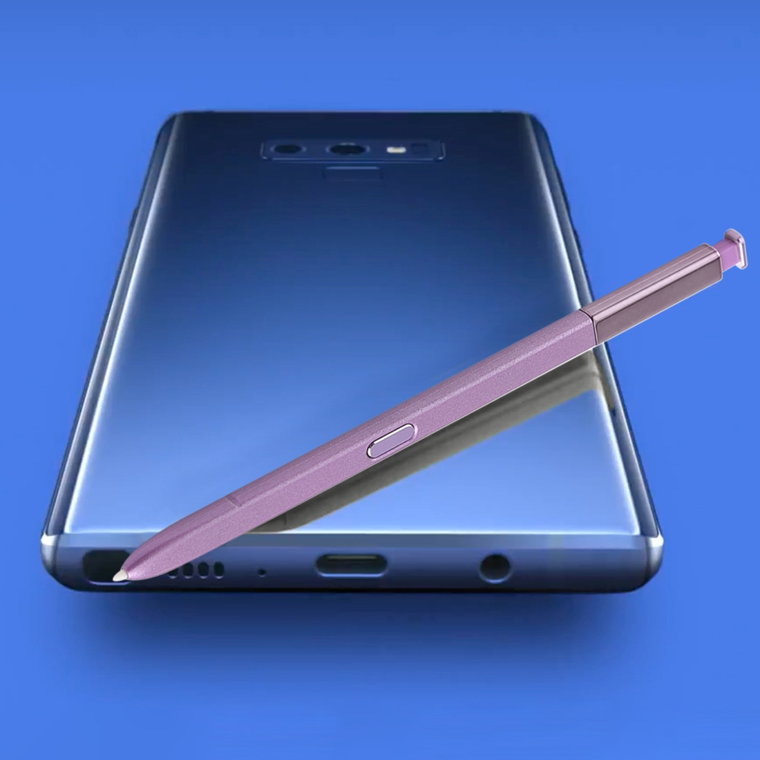 Portable High-Sensitive Stylus Pen without Bluetooth for Galaxy Note9 (Purple)