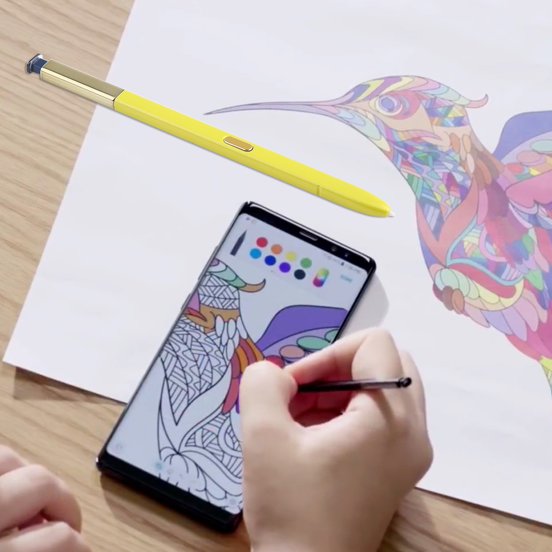 Portable High-Sensitive Stylus Pen without Bluetooth for Galaxy Note9 (Yellow)