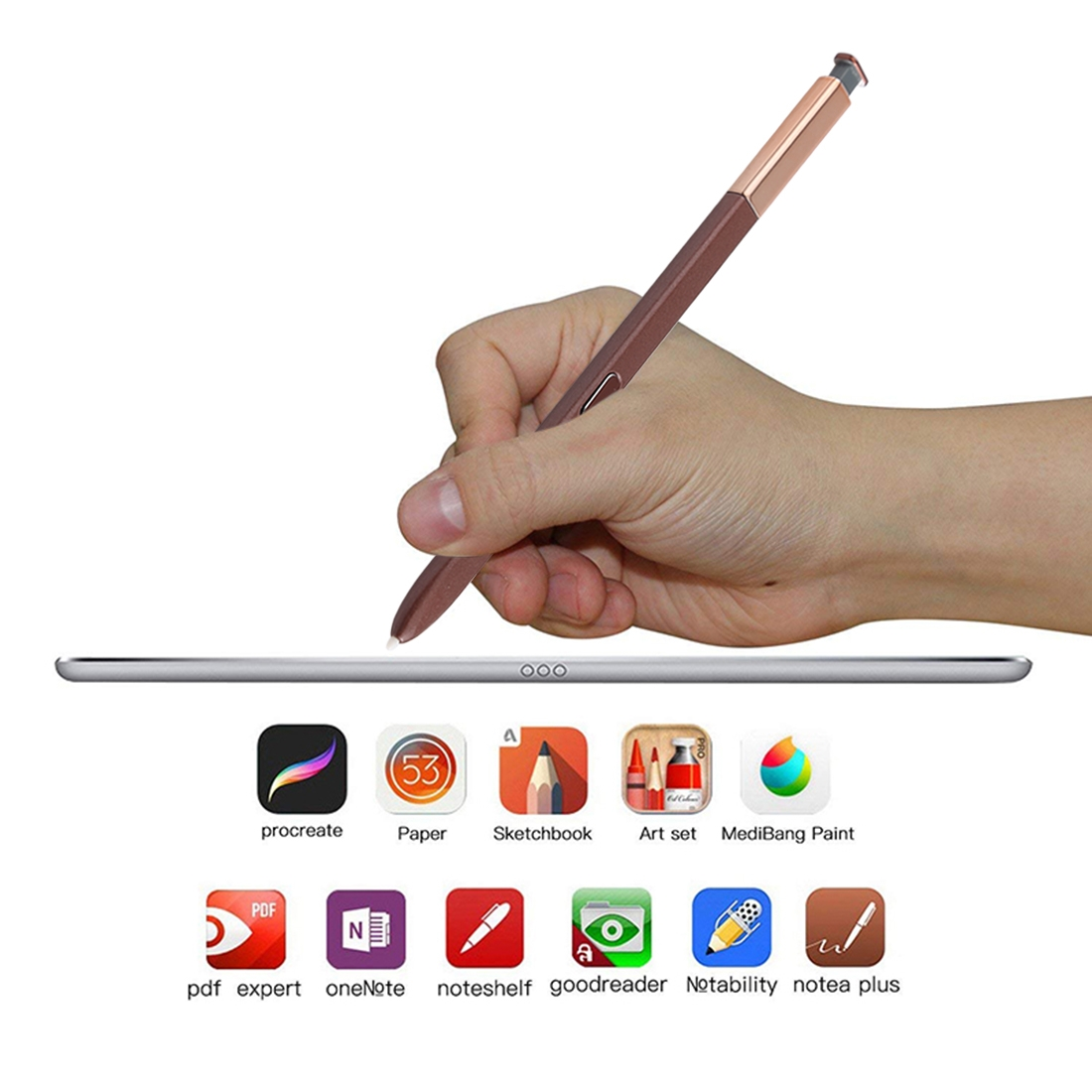 Portable High-Sensitive Stylus Pen without Bluetooth for Galaxy Note9 (Brown)