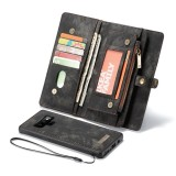 CaseMe-008 Detachable Multifunctional Horizontal Flip Leather Case for Galaxy Note9, with Card Slot & Holder & Zipper Wallet & Photo Frame (Black)